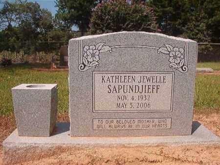 SAPUNDJIEFF, KATHLEEN JEWELLE - Hempstead County, Arkansas   KATHLEEN JEWELLE SAPUNDJIEFF - Arkansas Gravestone Photos