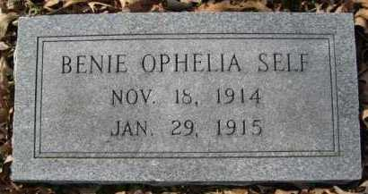 SELF, BENIE OPHELIA - Hempstead County, Arkansas   BENIE OPHELIA SELF - Arkansas Gravestone Photos