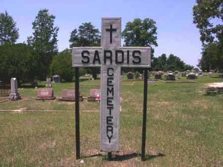 *SARDIS CEMETERY SIGN,  - Hempstead County, Arkansas |  *SARDIS CEMETERY SIGN - Arkansas Gravestone Photos