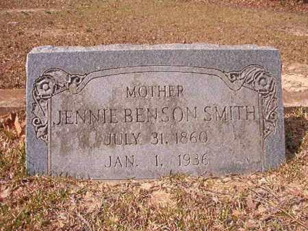 BENSON SMITH, JENNIE - Hempstead County, Arkansas | JENNIE BENSON SMITH - Arkansas Gravestone Photos