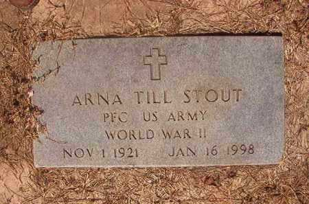 STOUT (VETERAN WWII), ARNA TILL - Hempstead County, Arkansas | ARNA TILL STOUT (VETERAN WWII) - Arkansas Gravestone Photos