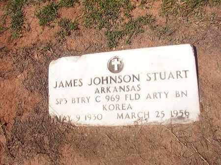 STUART (VETERAN KOR), JAMES JOHNSON - Hempstead County, Arkansas | JAMES JOHNSON STUART (VETERAN KOR) - Arkansas Gravestone Photos