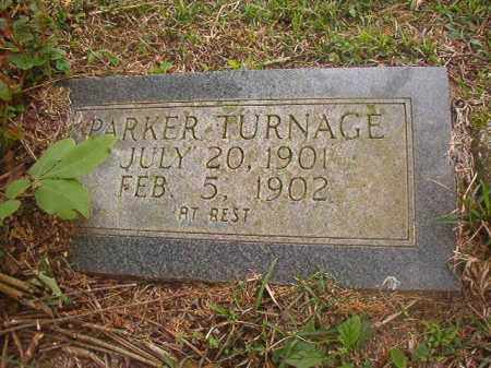 TURNAGE, PARKER - Hempstead County, Arkansas   PARKER TURNAGE - Arkansas Gravestone Photos
