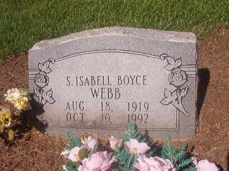 WEBB, S ISABELL - Hempstead County, Arkansas | S ISABELL WEBB - Arkansas Gravestone Photos
