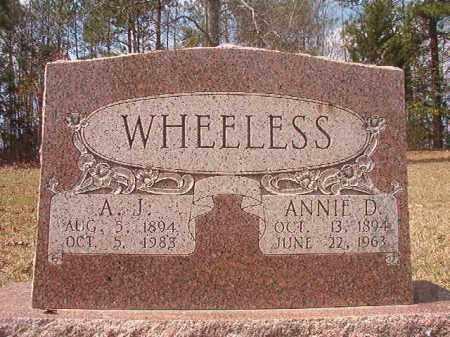 WHEELESS, A J - Hempstead County, Arkansas   A J WHEELESS - Arkansas Gravestone Photos