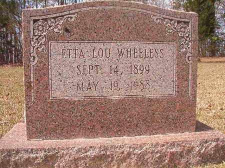 WHEELESS, ETTA LOU - Hempstead County, Arkansas | ETTA LOU WHEELESS - Arkansas Gravestone Photos