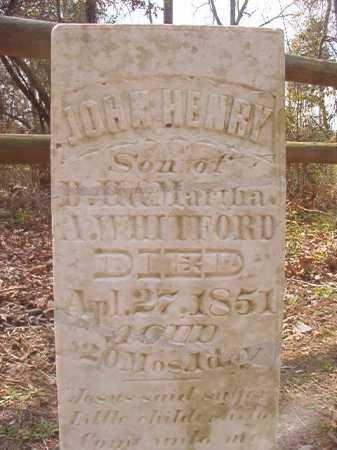 WHITFORD, JOHN HENRY - Hempstead County, Arkansas | JOHN HENRY WHITFORD - Arkansas Gravestone Photos