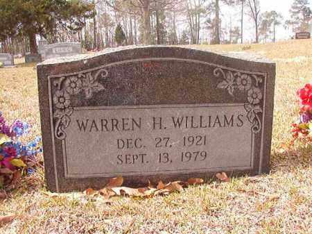 WILLIAMS, WARREN H. - Hempstead County, Arkansas   WARREN H. WILLIAMS - Arkansas Gravestone Photos