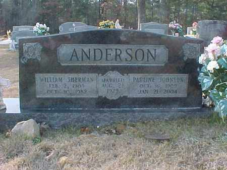 ANDERSON, WILLIAM SHERMAN - Hot Spring County, Arkansas | WILLIAM SHERMAN ANDERSON - Arkansas Gravestone Photos
