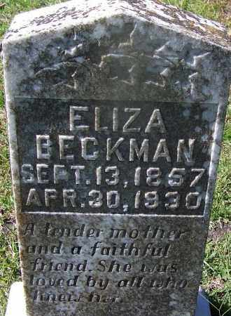 BECKMAN, ELIZA - Hot Spring County, Arkansas | ELIZA BECKMAN - Arkansas Gravestone Photos