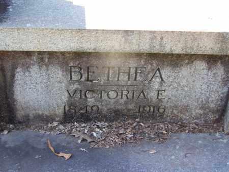 BETHEA, VICTORIA E (CLOSE UP) - Hot Spring County, Arkansas | VICTORIA E (CLOSE UP) BETHEA - Arkansas Gravestone Photos