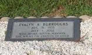 THORNTON BURROUGHS, EVALYN ALINE - Hot Spring County, Arkansas   EVALYN ALINE THORNTON BURROUGHS - Arkansas Gravestone Photos