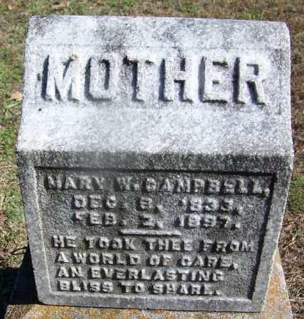CAMPBELL, MARY W - Hot Spring County, Arkansas | MARY W CAMPBELL - Arkansas Gravestone Photos