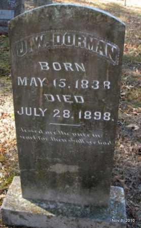 DORMAN, J W - Hot Spring County, Arkansas | J W DORMAN - Arkansas Gravestone Photos