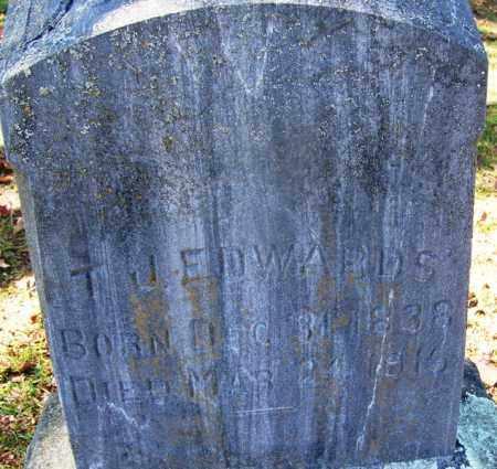 EDWARDS (VETERAN CSA), T J. - Hot Spring County, Arkansas | T J. EDWARDS (VETERAN CSA) - Arkansas Gravestone Photos