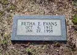 WHITE EVANS, RETHA E. - Hot Spring County, Arkansas | RETHA E. WHITE EVANS - Arkansas Gravestone Photos