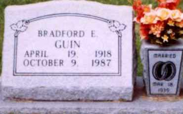 GUIN, BRADFORD E. - Hot Spring County, Arkansas | BRADFORD E. GUIN - Arkansas Gravestone Photos