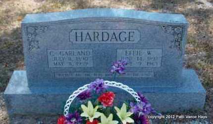 HARDAGE, EFFIE W - Hot Spring County, Arkansas | EFFIE W HARDAGE - Arkansas Gravestone Photos