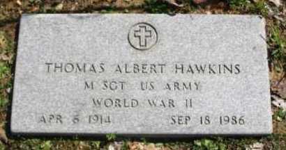 HAWKINS (VETERAN WWII), THOMAS ALBERT - Hot Spring County, Arkansas | THOMAS ALBERT HAWKINS (VETERAN WWII) - Arkansas Gravestone Photos
