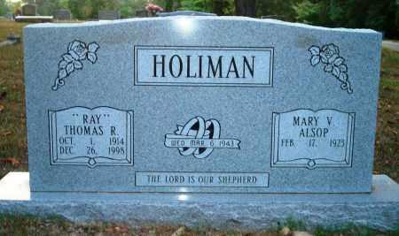 "HOLIMAN, THOMAS R ""RAY"" - Hot Spring County, Arkansas | THOMAS R ""RAY"" HOLIMAN - Arkansas Gravestone Photos"