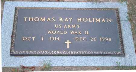 HOLIMAN (VETERAN WWII), THOMAS RAY - Hot Spring County, Arkansas | THOMAS RAY HOLIMAN (VETERAN WWII) - Arkansas Gravestone Photos