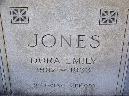 JONES, DORA EMILY (CLOSE UP) - Hot Spring County, Arkansas | DORA EMILY (CLOSE UP) JONES - Arkansas Gravestone Photos