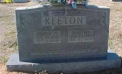 KEETON, HAMPTON - Hot Spring County, Arkansas | HAMPTON KEETON - Arkansas Gravestone Photos