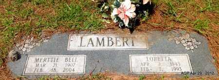 LAMBERT, MERTTIE BELL - Hot Spring County, Arkansas | MERTTIE BELL LAMBERT - Arkansas Gravestone Photos