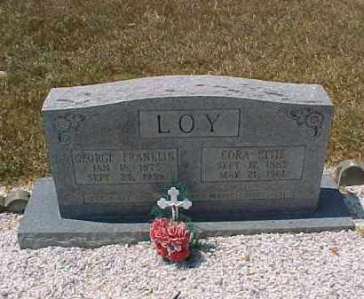 TISDALE LOY, CORA ETTIE - Hot Spring County, Arkansas | CORA ETTIE TISDALE LOY - Arkansas Gravestone Photos