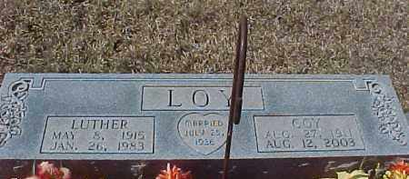 LOY, LUTHER - Hot Spring County, Arkansas | LUTHER LOY - Arkansas Gravestone Photos