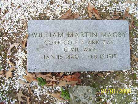 MAGBY (VETERAN UNION), WILLIAM MARTIN - Hot Spring County, Arkansas | WILLIAM MARTIN MAGBY (VETERAN UNION) - Arkansas Gravestone Photos