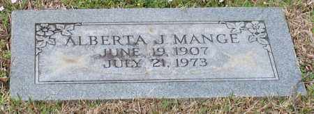 MANGE, ALBERTA J - Hot Spring County, Arkansas | ALBERTA J MANGE - Arkansas Gravestone Photos