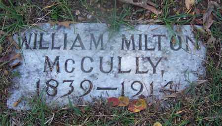 MCCULLY (VETERAN CSA), WILLIAM MILTON - Hot Spring County, Arkansas | WILLIAM MILTON MCCULLY (VETERAN CSA) - Arkansas Gravestone Photos