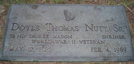 NUTT, SR (VETERAN WWII), DOYLE THOMAS - Hot Spring County, Arkansas | DOYLE THOMAS NUTT, SR (VETERAN WWII) - Arkansas Gravestone Photos