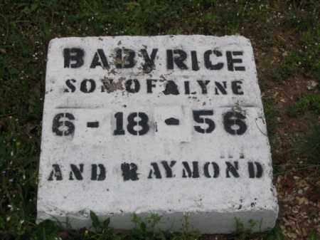 RICE, BABY - Hot Spring County, Arkansas | BABY RICE - Arkansas Gravestone Photos