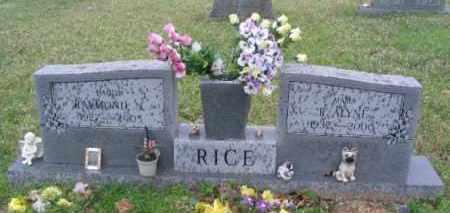 RICE, RAYMOND R - Hot Spring County, Arkansas | RAYMOND R RICE - Arkansas Gravestone Photos