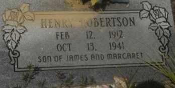 ROBERTSON, HENRY - Hot Spring County, Arkansas | HENRY ROBERTSON - Arkansas Gravestone Photos