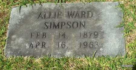 SIMPSON, ALLIE - Hot Spring County, Arkansas | ALLIE SIMPSON - Arkansas Gravestone Photos