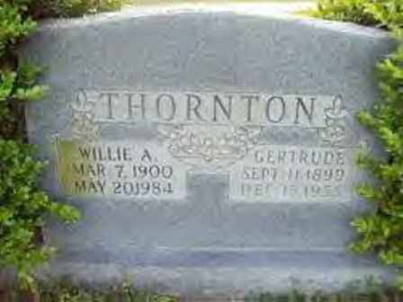 EFFIRD THORNTON, GERTRUDE - Hot Spring County, Arkansas | GERTRUDE EFFIRD THORNTON - Arkansas Gravestone Photos
