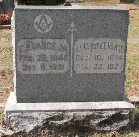 MCKEE VANCE, SARA - Hot Spring County, Arkansas | SARA MCKEE VANCE - Arkansas Gravestone Photos