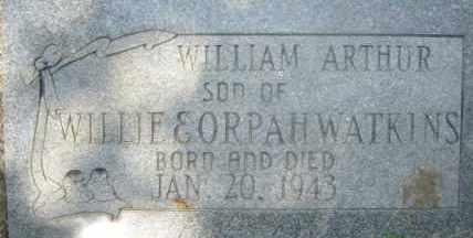 WATKINS, WILLIAM ARTHUR - Hot Spring County, Arkansas | WILLIAM ARTHUR WATKINS - Arkansas Gravestone Photos
