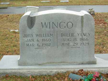 YANCY WINGO, ISABELLE (DOLLIE) - Hot Spring County, Arkansas | ISABELLE (DOLLIE) YANCY WINGO - Arkansas Gravestone Photos