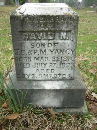 YANCY, DAVID N. - Hot Spring County, Arkansas | DAVID N. YANCY - Arkansas Gravestone Photos