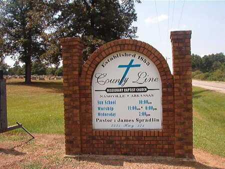 *COUNTY LINE,  - Howard County, Arkansas |  *COUNTY LINE - Arkansas Gravestone Photos