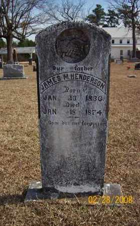 HENDERSON  (VETERAN CSA), JAMES M  C - Howard County, Arkansas | JAMES M  C HENDERSON  (VETERAN CSA) - Arkansas Gravestone Photos