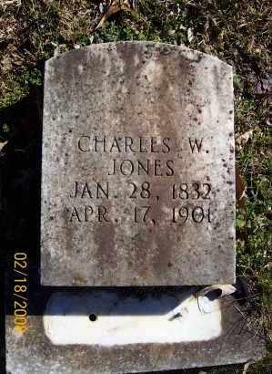 JONES  (VETERAN CSA), CHARLES W - Howard County, Arkansas   CHARLES W JONES  (VETERAN CSA) - Arkansas Gravestone Photos