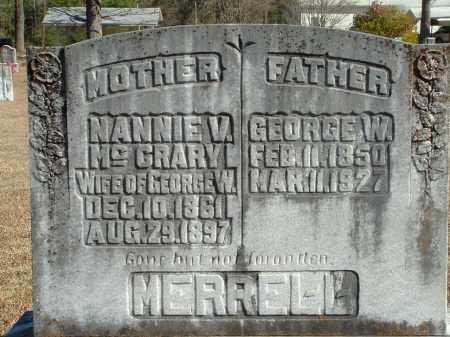 MCCRARY MERRELL, NANNIE V. - Howard County, Arkansas | NANNIE V. MCCRARY MERRELL - Arkansas Gravestone Photos