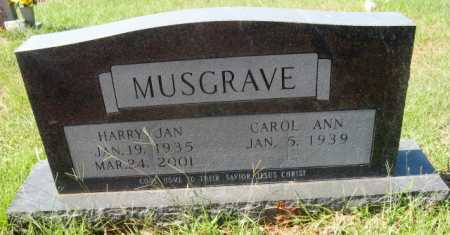 MUSGRAVE, HARRY JAN - Howard County, Arkansas | HARRY JAN MUSGRAVE - Arkansas Gravestone Photos