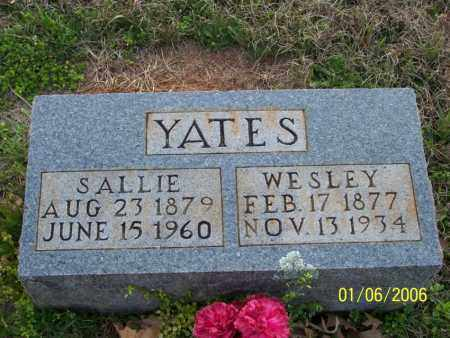 "YATES, SARAH ANN ""SALLIE"" - Howard County, Arkansas 