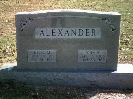 ALEXANDER, JOHN W - Independence County, Arkansas | JOHN W ALEXANDER - Arkansas Gravestone Photos
